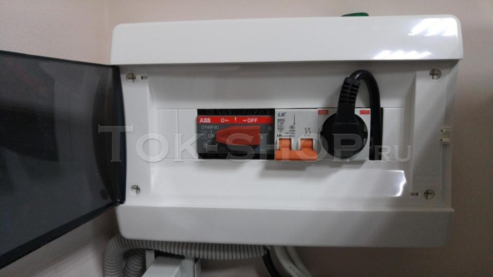Рубильник питания ИБП от сети/генератора