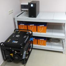 ИБП для  важной нагрузки с подключением генератора