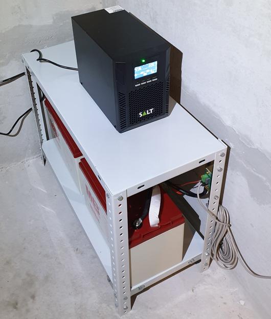 ИБП на 1000Ва с двумя батареями на 100Ач
