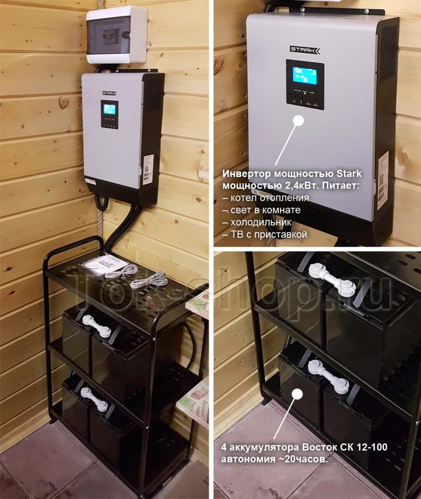 Инвертор Stark или BiNeos бесперебойно питают отдельные автоматы в щите