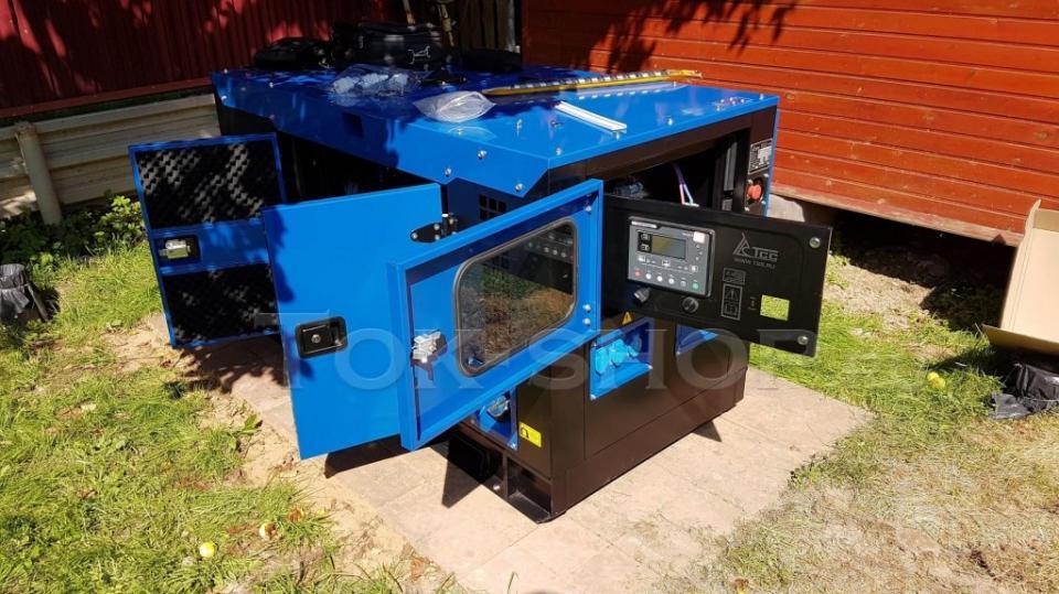 Процесс пуско-наладки однофазного дизельного генератора 12кВт для коттеджа