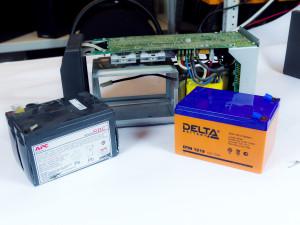 Замена аккумулятора в ИБП APC Smart-UPS SC 620.